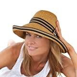 Ladies Upturn Sun Hat / Beach Hat, Catalina Wheat