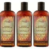Kuumba Made Amber & Sandalwood Bath & Body Oil 6oz(pack of 3)