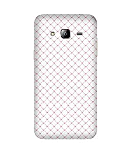 Heart Diagnol Back Cover Case for Samsung Galaxy J3