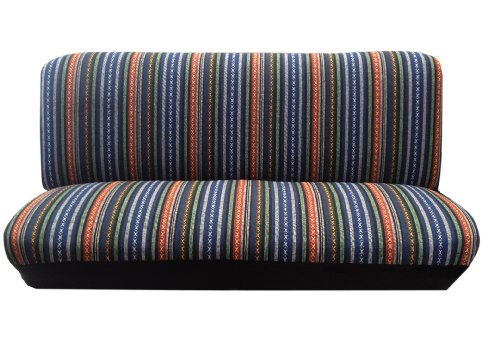 Baja Blue Saddle Blanket Bench Seat Cover Standard Fit Colorful Stripes (Vintage Seat Covers compare prices)
