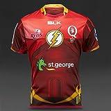 【限定コラボ】ラグビー 日本代表 五郎丸 スーパーラグビー  Blk Queensland Reds 2015 home オーストラリア クイーンズランド レッズ 『フラッシュコラボ』 レプリカ