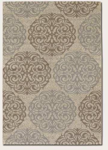 Couristan - Five Seasons Collection - Montecito - Cream/Sky Blue 5'10