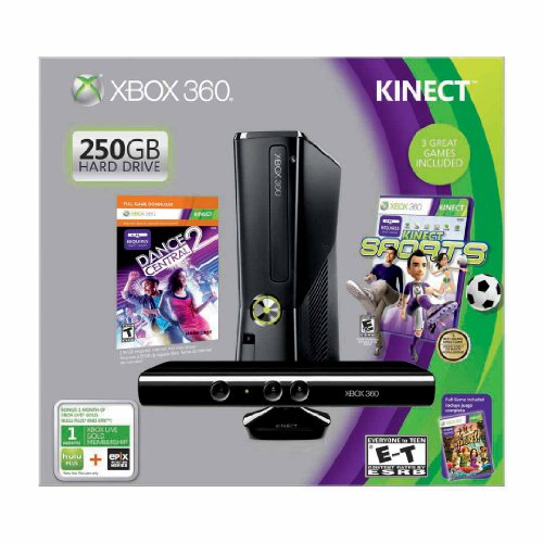 Xbox 360 250GB with Kinect Holiday Value Bundle (Xbox Connect Console compare prices)