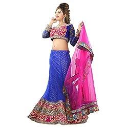 Aagaman Fashions Net Lehenga Choli (TSSF10008_Blue)