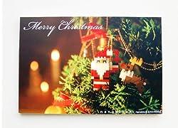 nanoblockクリスマスカード2012(サンタ)メッセージ無しタイプ