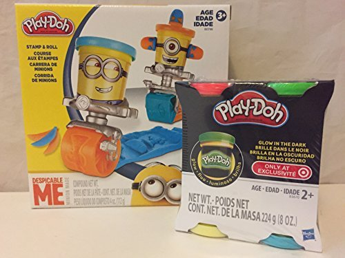 Play-Doh Despicable Me Minions Stamp and Roll & Play-Doh Glow in the Dark 4-Pack (Play Dough Despicable Me compare prices)