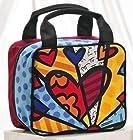 Giftcraft Romero Britto Heart Design a New Day Satin Cosmetic Bag