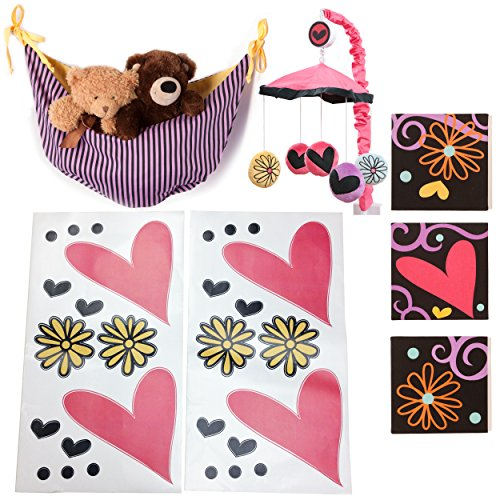 One Grace Place Sassy Shaylee Infant Accessory Set, Black, Pink and Purple
