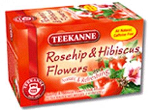 Teekanne Rosehip & Hibiscus Flowers Herbal Tea (20 Tea Bags)