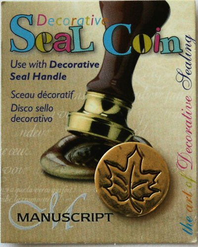 Manuscript Pen 727LEA Decorative Seal Coin, 0.75-Inch, Leaf - 1