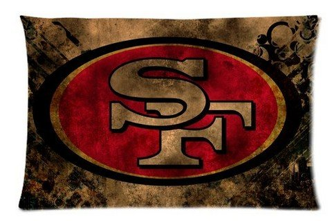 Custom NFL San Francisco 49ers Pillow Case Cover Pet Pillowcase Size 20*30 at Amazon.com