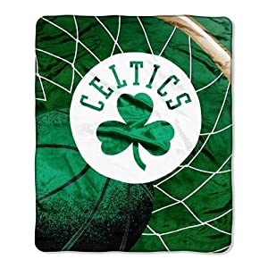 Boston Celtics 50x60 Royal Plush Raschel Throw Blanket - Reflect Style by Caseys