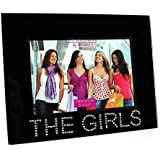 """Black Glass The Girls Photo Picture Frame 5x3.5"""""""
