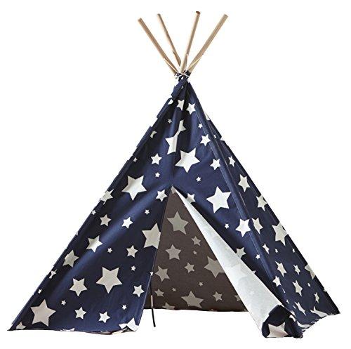 Merry Garden Children's Teepee Blue with White Stars Games
