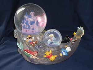 """Disney Multi Characters with Castle Snowglobe """"Zip-A-Dee-Doo-Dah"""" Tune by Disney"""