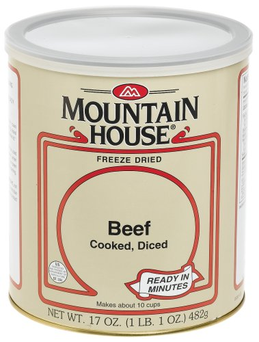 Mountain House #10 Can Diced Beef, Cooked (15 2/3 cup servings)
