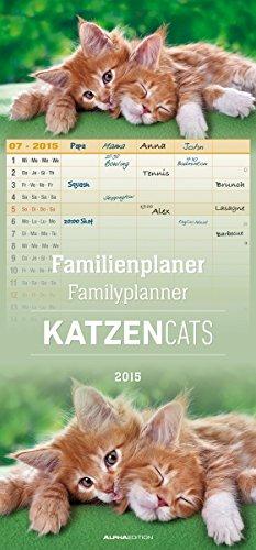 Familienplaner Katzen 2015 - Familientermine / Familientimer (21 x 45) - 5 Spalten, Buch