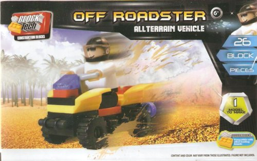 Block Tech Off Roadster All Terrain Vehicle 26 Piece Set Compatible with Legos