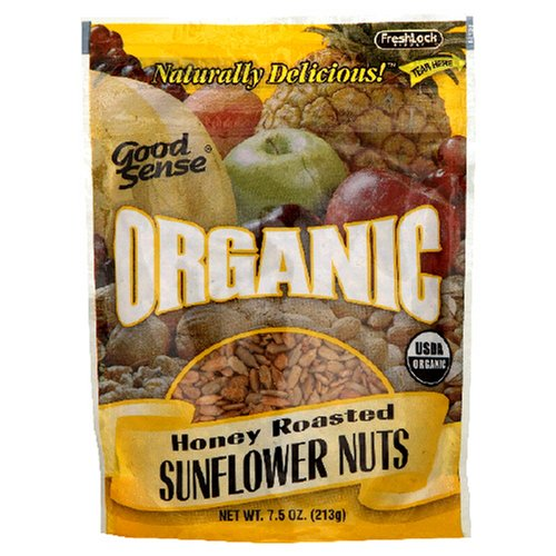 Buy Good Sense Organic Sunflower Nuts H/R, 7.5-Ounce Bags (Pack of 12) (Good Sense, Health & Personal Care, Products, Food & Snacks, Snacks Cookies & Candy, Snack Food)