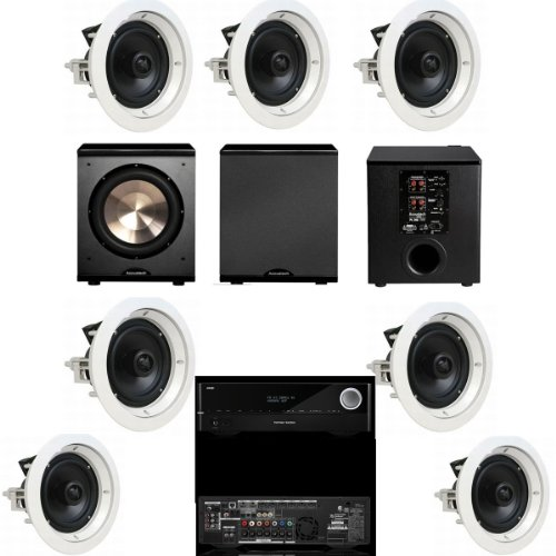 Speakercraft Crs8 Zero 7 Pack In-Ceiling Speaker-(Asm86801-5)7 Each-Bic Pl-200-Harman Kardon Avr-1710
