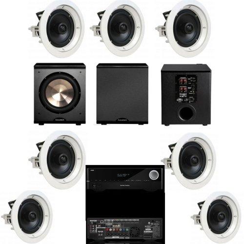 Speakercraft Crs8 Zero 7 Pack In-Ceiling Speaker-(Asm86801-5)7 Each-Bic Pl-200-Harman Kardon Avr-1710