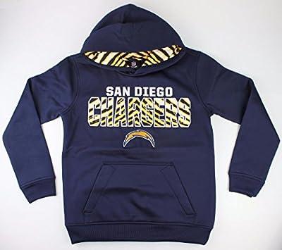 San Diego Chargers NFL Youth Team Logo Flex Performance Hooded Sweatshirt