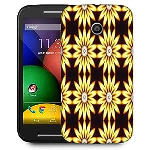 Snoogg Yellow Sunflower Designer Protective Phone Back Case Cover For Motorola E2 / MOTO E22