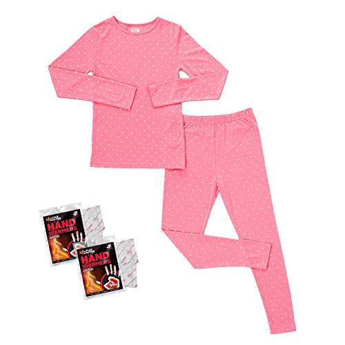 32 Degrees Weatherproof Big Girl's Base Layer Thermal Set, S, Pink Foil Star (Thermal Girls compare prices)