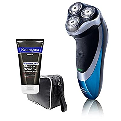 Philips Norelco AT81/41 PowerTouch with Aquatec Electric Razor with Bonus Neutrogena Cream & Travel Case