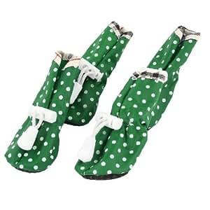 Print Pet Dog con cordón patea los zapatos 4 PC Verde : Pet Supplies
