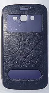 Generic Oscar Series Flip Cover for Samsung Galaxy S4 (Blue)