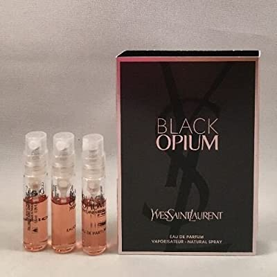 3 Yves Saint Laurent YSL Black Opium EDP 0.05 oz/1.5 ml Women Spray Sample Travel Vial
