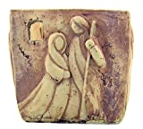 Holy Family Nativity of Christ Stone Votive Candle Holder Home Chapel Religious Decoration