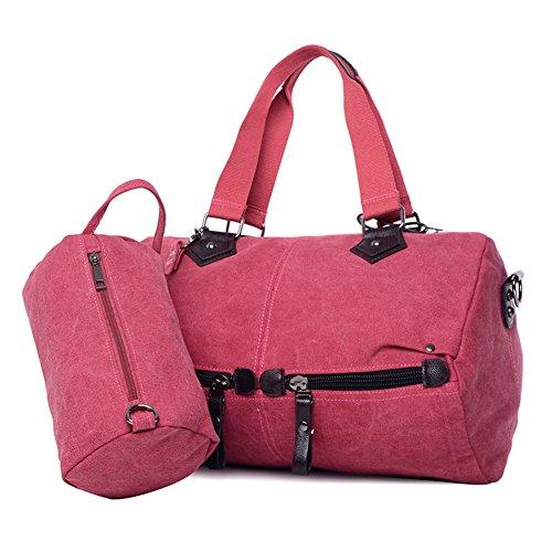 KIU Sac de femmes coréennes/Sac en toile Casual/Grand sac à bandoulière/Sac à main mode simple/Paquet de Diagonal pour envoyer des petits colis
