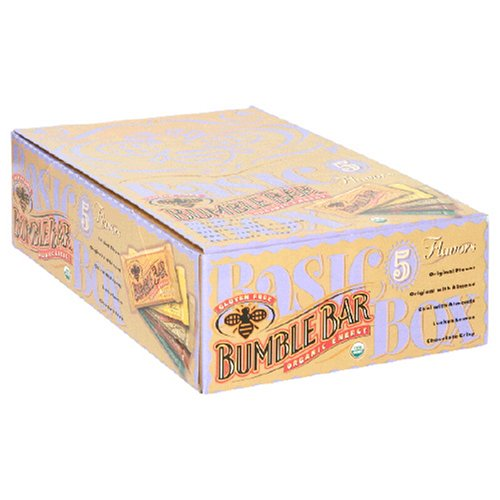 BumbleBar Organic Energy The Basic Box, Five Flavors, 1.6 Ounce Bar (Pack of 15)