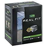 Depend Real Fit for Men Briefs, Maximum Absorbency, S/M, 12 briefs