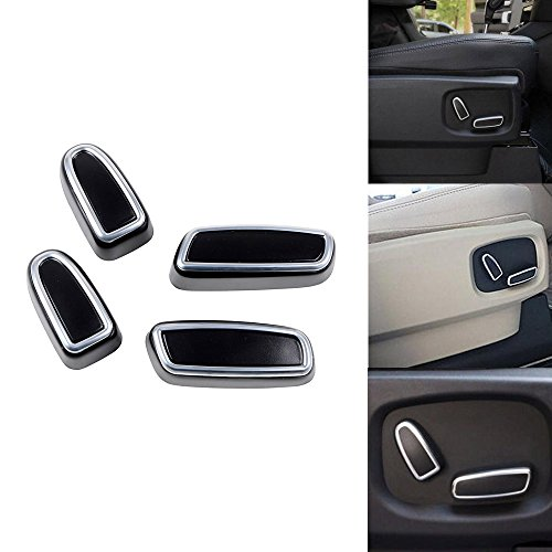 Matte Chrome Door Seat Adjust Button Switch Cover Trim For Land Rover Discovery 4 LR4 Range Rover Sport EVOQUE (Range Rover Sport Seat Covers compare prices)