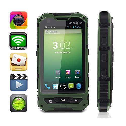 Moxiv 4.0-Inch Os Android 4.2 Mtk6572 Dual Core Unlocked 3G Cellephone Waterproof - Green