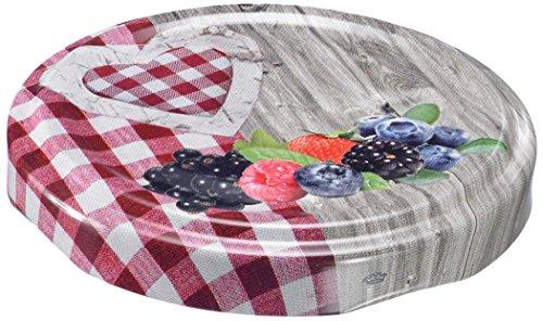 Westmark 40902230 Couvercle à Visser avec Motif Cœur Métal Multicolore 82 mm 10 Pièces