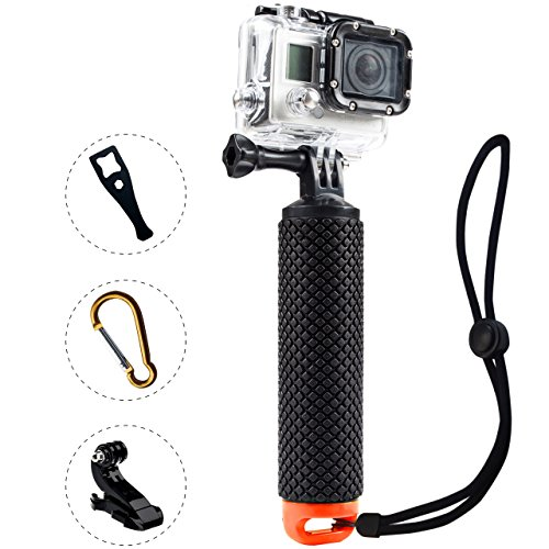 ProFloat-Waterproof-Floating-Hand-Grip-Diving-Monopod-Selfie-Stick-compatible-with-GoPro-Hero-4-Session-Hero-2-3-3-4-Handle-Mount-Accessories-Kit-Water-Sport-Pole-for-Action-Camera-Orange