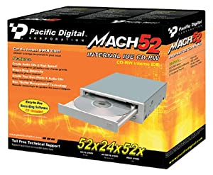 Pacific Digital 52x24x52 Internal IDE CD-RW Drive