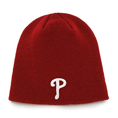 Philadelphia Phillies Red Toque Skull Cap - MLB Cuffless Beanie Knit Hat