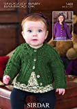 Sirdar Baby Snuggly Baby Bamboo DK Cardigans Knitting Pattern 1468