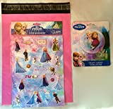 Frozen Purple Night Light Featuring Queen Elsa and Princess Anna and Puffy Stickers Gift Pack (29 Pieces) (Elsa and Anna)