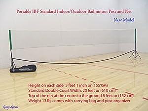 Buy Genji Sports Portable Indoor Badminton Posts and Net by Genji Sports