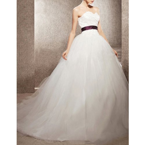 LuxBridal Women's A-Line Ball Gown Sweetheart
