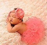 Jastore® Photography Prop Baby Infant Lovely Costume TuTu Dress Flower Headband Pink