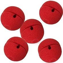 Comprar SODIAL(R) 5 x rojo espuma payaso nariz del partido del traje del vestido de lujo de cosplay