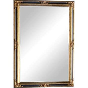 "Huge Black and Gold Gilt Antique Style Victoria Mirror (6ft 10"" x 4ft 10"")"