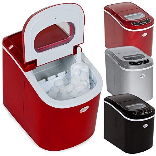 TecTake Professionnelle machine à glaçons appareil de préparation de glace - diverses couleurs au choix - (Rouge | no. 400475)